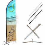 Customised Beach Flag Stands