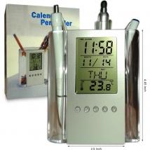 Digital LCD Calendar with Plastic Pen Holder